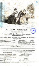 La dame d'honneur opera-comique en un acte paroles de MM. Paul Duport et Edouard Monnais