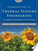 Introduction to Thermal Systems Engineering