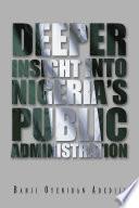 Deeper Insight Into Nigeria S Public Administration
