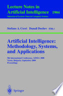 Artificial Intelligence Methodology Systems And Applications Book PDF