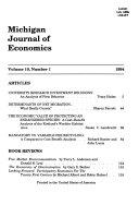 Michigan Journal of Economics