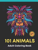 101 Animals Adult Coloring Book