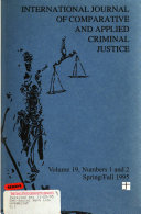 International Journal of Comparative and Applied Criminal Justice