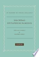 John Milton S Epitaphium Damonis