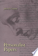 Personalist Papers