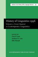 History of Linguistics 1996