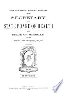 Annual report of the Commissioner of the Michigan Department of Health for the fiscal year ending     1897