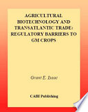 Agricultural Biotechnology and Transatlantic Trade Book