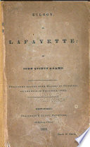 Eulogy  on Lafayette Book