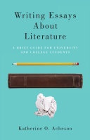 Writing Essays About Literature [Pdf/ePub] eBook