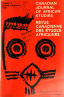 Canadian Journal of African Studies
