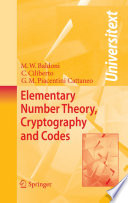 Elementary Number Theory Cryptography And Codes