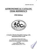 Astronomical Catalog Desk Reference