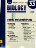 Chapter Resource 33 Fishes and Amphibians Biology