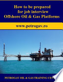 How to be prepared for job interview Offshore Oil   Gas Platforms