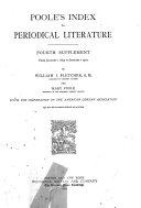 Poole's Index to Periodical Literature