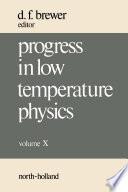 Progress in Low Temperature Physics Book