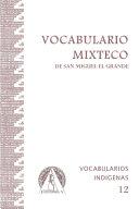 Vocabulario Mixteco de San Miguel el Grande
