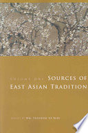 Sources Of East Asian Tradition Premodern Asia Book PDF