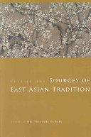 Sources of East Asian Tradition  Premodern Asia