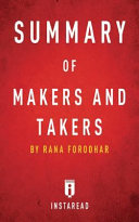 Summary of Makers and Takers the Rise of Finance and the Fall of American Business