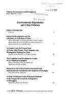Chinese Environment & Development