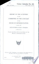 Report on the Activities of the Committee on the Judiciary of the House of Representatives During the One Hundred Ninth Congress Book