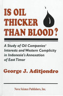 Is Oil Thicker Than Blood  Book PDF