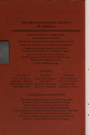 The Papers Of The Bibliographical Society Of America