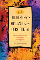 Cover of The Elements of Language Curriculum