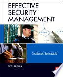 """""""Effective Security Management"""" by Charles A. Sennewald"""