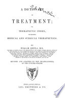 A Dictionary of Treatment  Or  Therapeutic Index