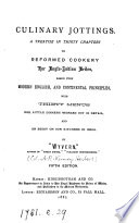 Culinary jottings  a treatise for Anglo Indian exiles  by  Wyvern