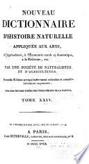 Nouveau dictionnaire d'histoire naturelle