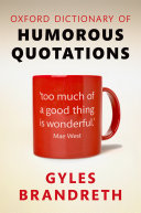 Oxford Dictionary of Humorous Quotations [Pdf/ePub] eBook