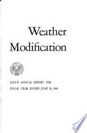Weather Modification Annual Report