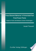 Trace Element Behaviour In Pulverised Fuel Fired Power Plants Book PDF