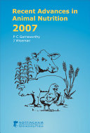 Recent Advances in Animal Nutrition 2007 Book
