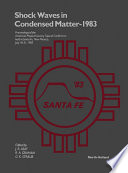 Shock Waves in Condensed Matter - 1983