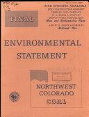 Northwest Colorado Coal