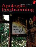 Apologies Forthcoming Book