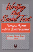 Writing the Social Text