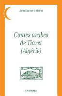 Pdf Contes arabes de Tiaret (Algérie) Telecharger