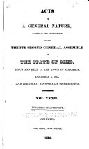 Pdf Acts of the State of Ohio