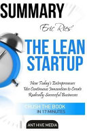 Eric Ries' the Lean Startup