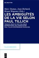 Pdf Les ambiguïtés de la vie selon Paul Tillich Telecharger