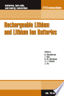 Rechargeable Lithium And Lithium Ion Batteries Book PDF