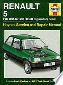 Renault 5 1985-96 Service and Repair Manual