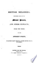 British melodies, extracts from the modern poets [signed J.H.R.].