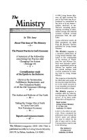 The Ministry Magazine